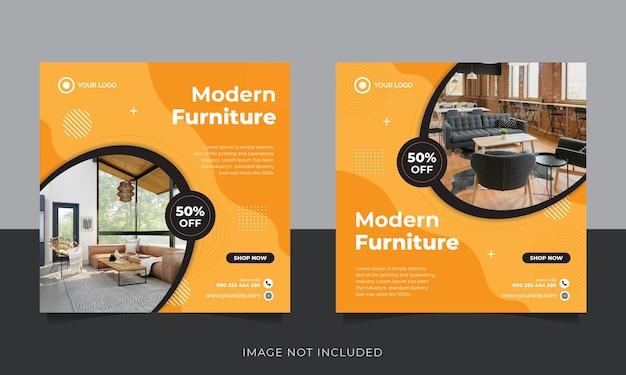 Modèle de publication sur les réseaux sociaux et instagram de meubles