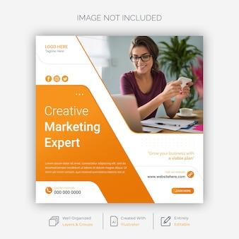 Modèle de publication sur les réseaux sociaux de marketing créatif