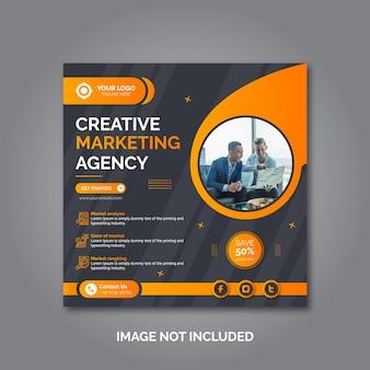 Modèle de publication sur les réseaux sociaux de marketing d'entreprise créative