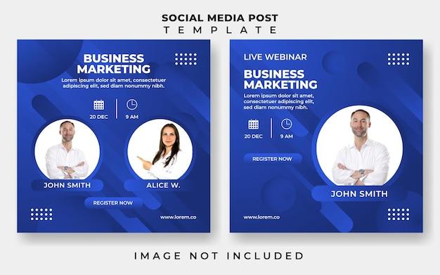Modèle de publication sur les réseaux sociaux de marketing d'entreprise de webinaire en direct