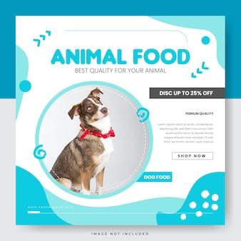 Modèle de publication sur les réseaux sociaux pour animalerie et accessoires