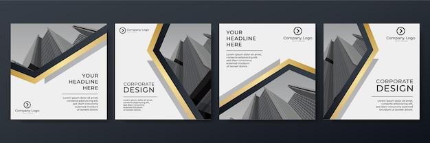 Modèle de publication sur les réseaux sociaux pour le marketing numérique et la promotion de vente. offre de bannière publicitaire d'entreprise