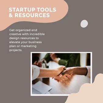 Modèle de publication sur les réseaux sociaux pour les petites entreprises