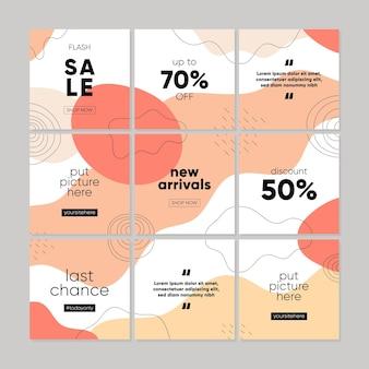 Modèle de publication sur les réseaux sociaux pour la vente promotionnelle