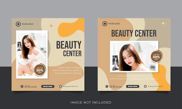 Modèle de publication sur les réseaux sociaux de salon de beauté