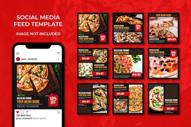 Modèle de publication de restaurant de menu alimentaire