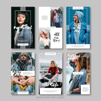 Modèle de publication de vente de médias sociaux minimaliste