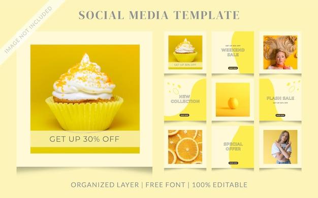 Modèle de publication de vente de médias sociaux de mode memphis