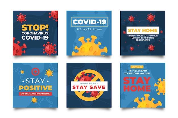 Modèle de publications instagram sur le coronavirus