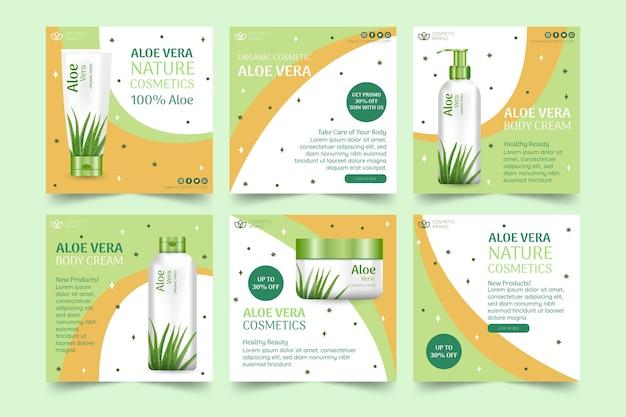 Modèle de publications instagram cosmétiques