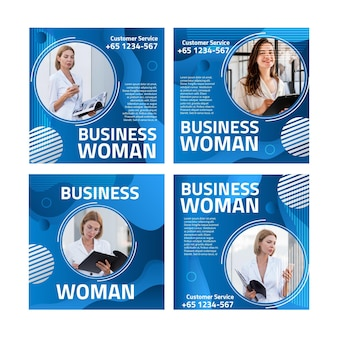 Modèle de publications instagram femme d'affaires