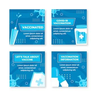 Modèle de publications instagram de vaccination à plat
