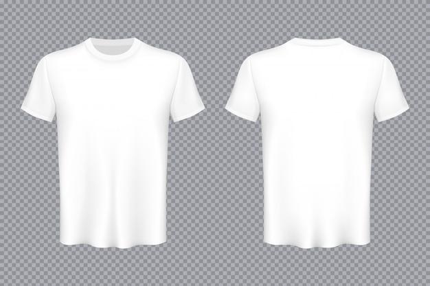 Modèle publicitaire de maquette vierge de t-shirts colorés