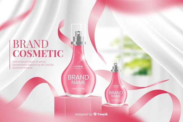 Modèle publicitaire réaliste pour le parfum
