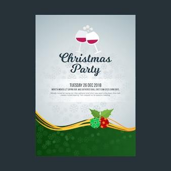 Modèle de publicité de affiche de fête de noël