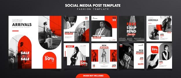 Modèle de publicité de médias sociaux de mode