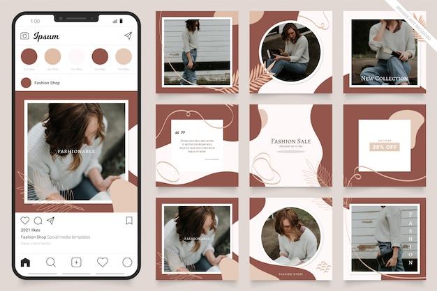 Modèle de publicité sur les médias sociaux pour instagram