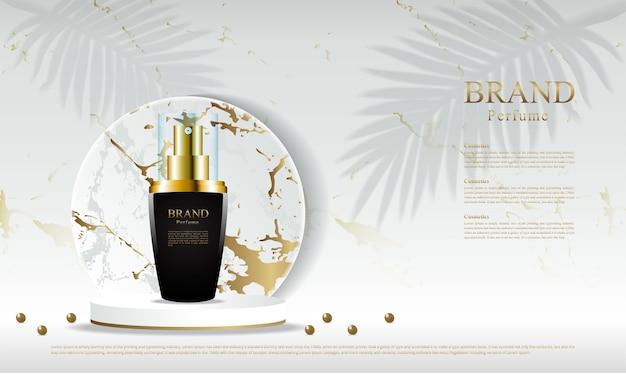 Modèle de publicité de parfum