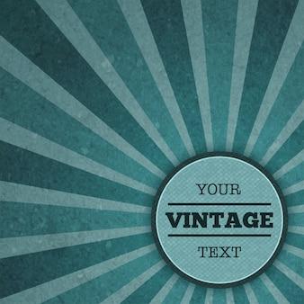 Modèle de publicité vintage sunburst