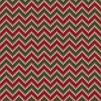 Modèle de pull tricoté abstrait chevron.