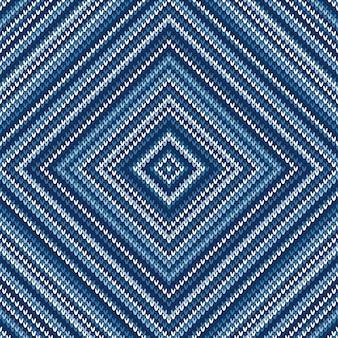 Modèle de pull tricoté abstrait