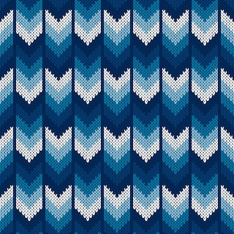 Modèle de pull tricoté à chevrons abstrait