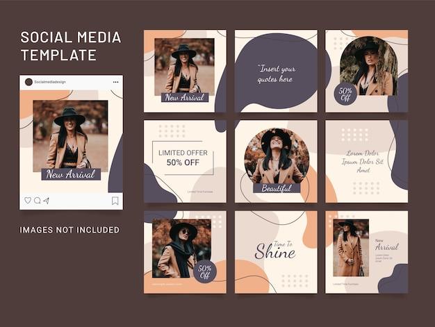 Modèle de puzzle instagram publication sur les médias sociaux