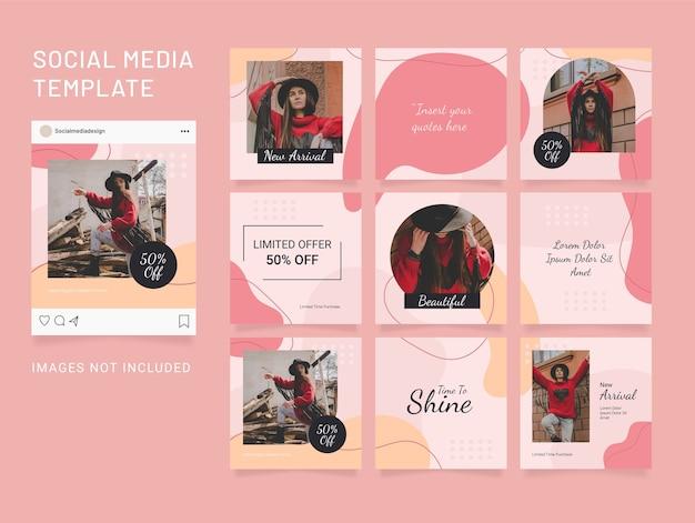 Modèle de puzzle publication de médias sociaux instagram