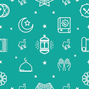 Modèle De Ramadhan. Eid Mubarak Fond, Vecteur Premium
