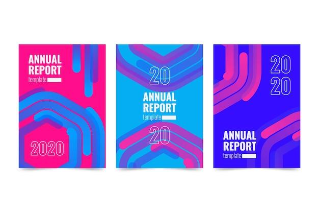 Modèle de rapport annuel abstrait coloré