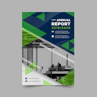 Modèle de rapport annuel abstrait avec photo