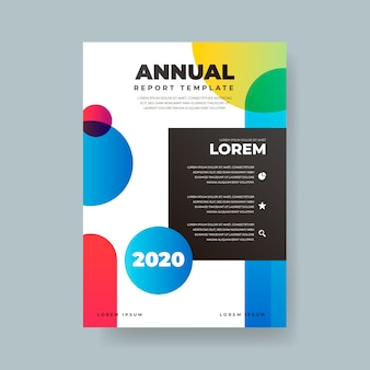 Modèle de rapport annuel coloré abstrait