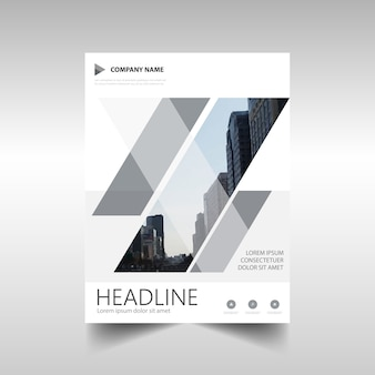 Modèle de rapport annuel créatif gris