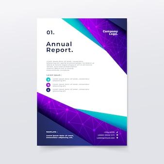 Modèle de rapport annuel dans un style abstrait