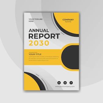 Modèle de rapport annuel d'entreprise jaune et noir