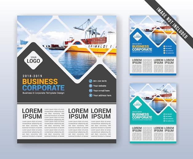 Modèle de rapport annuel d'entreprise moderne