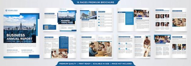 Modèle de rapport annuel d'entreprise