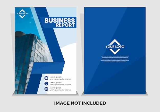 Modèle de rapport annuel moderne bleu vecteur premium