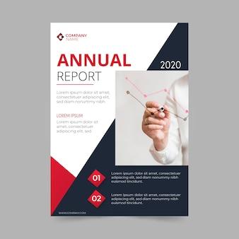 Modèle de rapport annuel avec thème photo