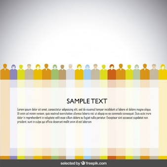 Modèle rayé coloré avec des avatars