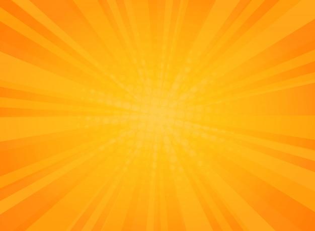 Modèle de rayonnement abstrait ensoleillé