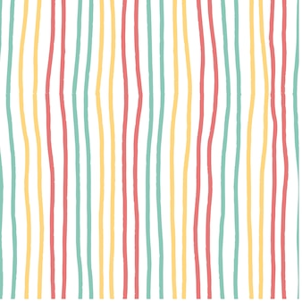 Modèle de rayures horizontales dessinés à la main couleur de pastel doux vintage