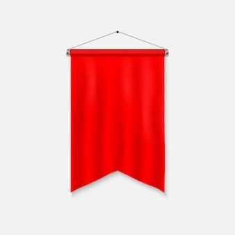 Modèle réaliste de fanion. drapeau 3d vide.