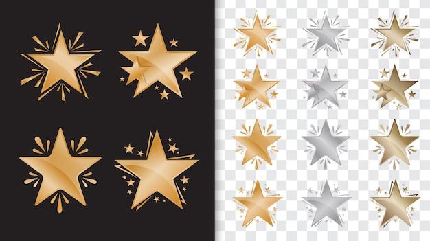 Modèle de récompense d'étoile d'or