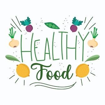 Modèle de régime de nutrition biologique de nourriture saine, de légumes frais et de fruits
