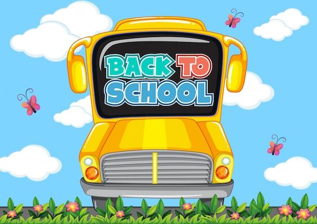 Modèle de retour à l'école avec autobus scolaire
