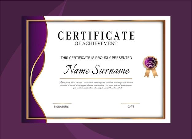 Modèle de réussite de certificat élégant