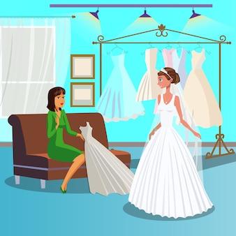 Modèle en robe blanche
