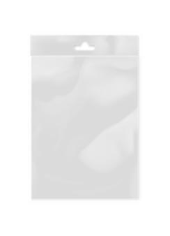 Modèle de sac en plastique pour maquette transparente
