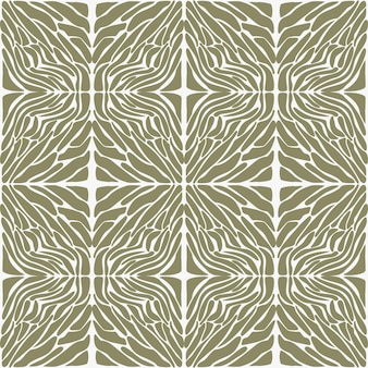 Modèle de safari sans couture à la mode dans des tons naturels verts et marrons formes abstraites dessinées à la main